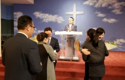 지현근 목사님 헤어짐의 아쉬운 인사