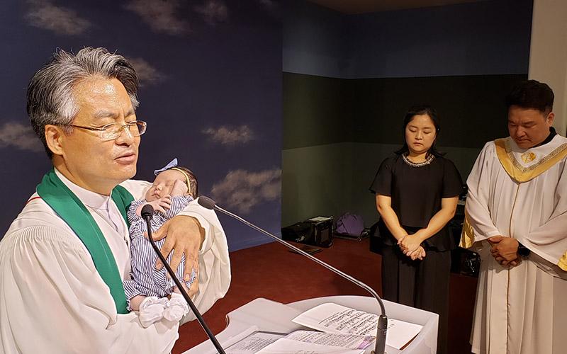 진설 아기 첫 예배